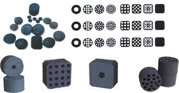 different kinds of honeycomb shape briquettes
